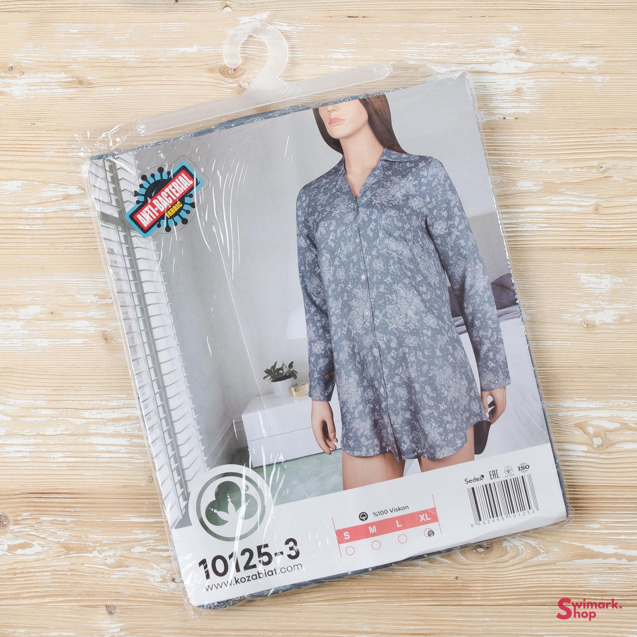 Пижамы Рубашка женская 10125-3 DSC_7117.jpg