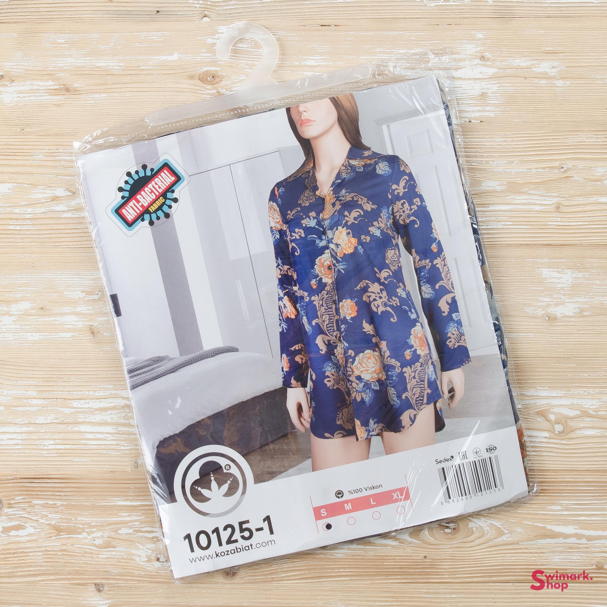 Пижамы Рубашка женская 10125-1 DSC_7110.jpg